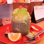 トップフルーツ八百文 - メロンのかき氷