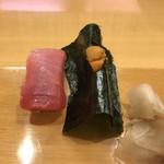 寿し満 - 鮪の赤身  雲丹