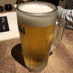 とりかわ権兵衛 - 2018年5月12日  生ビール(アサヒスーパードライ)