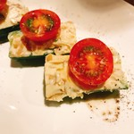 VECTOR BEER - 胡瓜とミニトマト 金山寺味噌&クリームチーズ