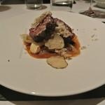 リストランテ カノフィーロ - ピエモンテ産仔牛サガリのグリーリア 新玉葱とアンチョビ