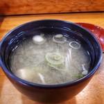 85761136 - 味噌汁 わかめと豆腐