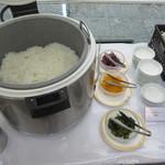 デルソーレ - ご飯と漬物