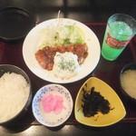 かしわ亭 - チキン南蛮定食842円が柏・我孫子ランパス9で540円(2018.4.3)