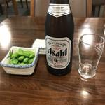 タウンホテルミナミ - 料理写真:瓶ビールとお通し