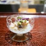 日本料理 晴山 - 先付け ハマグリ 白アスパラ