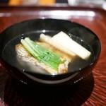 日本料理 晴山 - お椀 メバル 筍