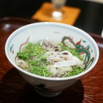 日本料理 晴山 - 熊肉 花山椒