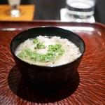 日本料理 晴山 - 熊肉 花山椒のニュー麺