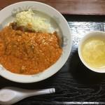 85777652 - チリカツ丼全景〜(*^▽^*)