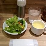 東京カレー屋名店会 - サラダ、スープ