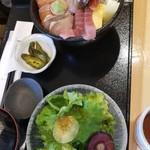 寿都アンテナショップ 神楽 - 海鮮丼定食 1500円
