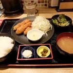 さつま翁 - カキフライ定食 800円 2018年4月