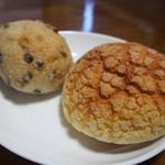 パンドウルス - 料理写真:右からぶどう丸、メロンパン