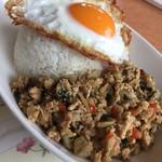 タイ食堂 サワディー - ガパオライス+目玉焼き