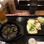 うめっちゃが食堂 - 宮崎地鶏炭火焼Sとチキン南蛮ハーフ