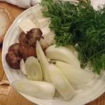 魚串 ねぶと屋 - 鍋のお野菜