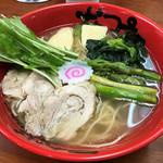 なんつッ亭 - 春野菜たっぷり塩ら~めん900円