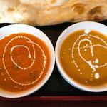 ヒマラヤ - キーマカレーとチキンカレー