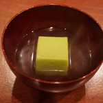 蕎麦切り 酒 大愚 - 鶯豆腐