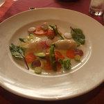 8579738 - Dinner(支笏湖の天然姫鱒と根室産帆立貝のカルパッチョグリーンアスパラガスと一緒に)