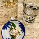 丸忠かまぼこ店 - お通し&日本酒&お水