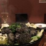 地鶏と焼酎 とりちゅう   - 二種の黒焼き