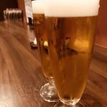 地鶏と焼酎 とりちゅう   - 生ビール