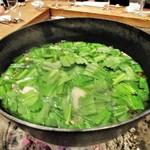 85794636 - 山菜鍋。     2018.04.21