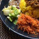 スパイスカレー青藍 - キャロットクルミクミンラペ、白菜の柚子と昆布和え