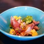 先斗町 魯ビン - ほたるいかと春野菜のお浸し