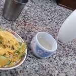 ISHWAR - ランチのサラダ・スープ・ラッシー
