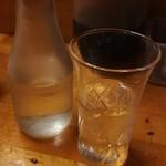 三吉橋フライ屋 - 日本酒(300円)