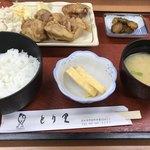 とり里 - 鶏もも唐揚げ塩定食