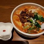 京華樓 - 【2018/5】担々刀削麺+杏仁豆腐