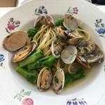 はなう - スパゲッティー アサリと菜の花のオリーブソース