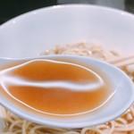 煮干乱舞 - かけそば(醤油) スープ リフト