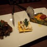 ボスコリサイア - 前菜おまかせ3種盛り合わせ