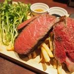 ボスコリサイア - 佐賀和牛上質ヒウチ肉と黒毛和牛45日熟成肉の炭火焼き食べ比べセット