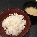竈炊き立てごはん 土井 - ご飯とお味噌汁はおかわりし放題
