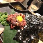 85829573 - 桜肉ユッケ