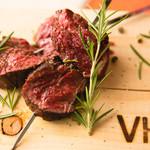 US産プライムビーフのハラミ肉(串)