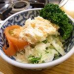 相撲茶屋 大旺 - お通し サラダ