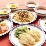 ふかひれスープ、炒飯、杏仁豆腐を含む人気のランチコース!! アイリス(全6品) 3,800円