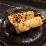 和鶏屋 - H.30.3.25.夜 つくねチーズ(タレ) @180円×2本