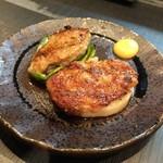 和鶏屋 - H.30.3.25.夜 ピーマン肉詰め 160円・レンコン肉詰め 160円