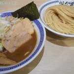 心の味製麺 - 炒め野菜 濃厚豚骨魚介つけ麺