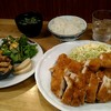 えん - 料理写真:チキンカツ定食750円。