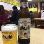 動坂食堂 - アサヒです、アサヒですな小瓶もあるよ…