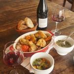 喃喃 - 大山鶏と野菜のオレンジロースト、野菜スープ